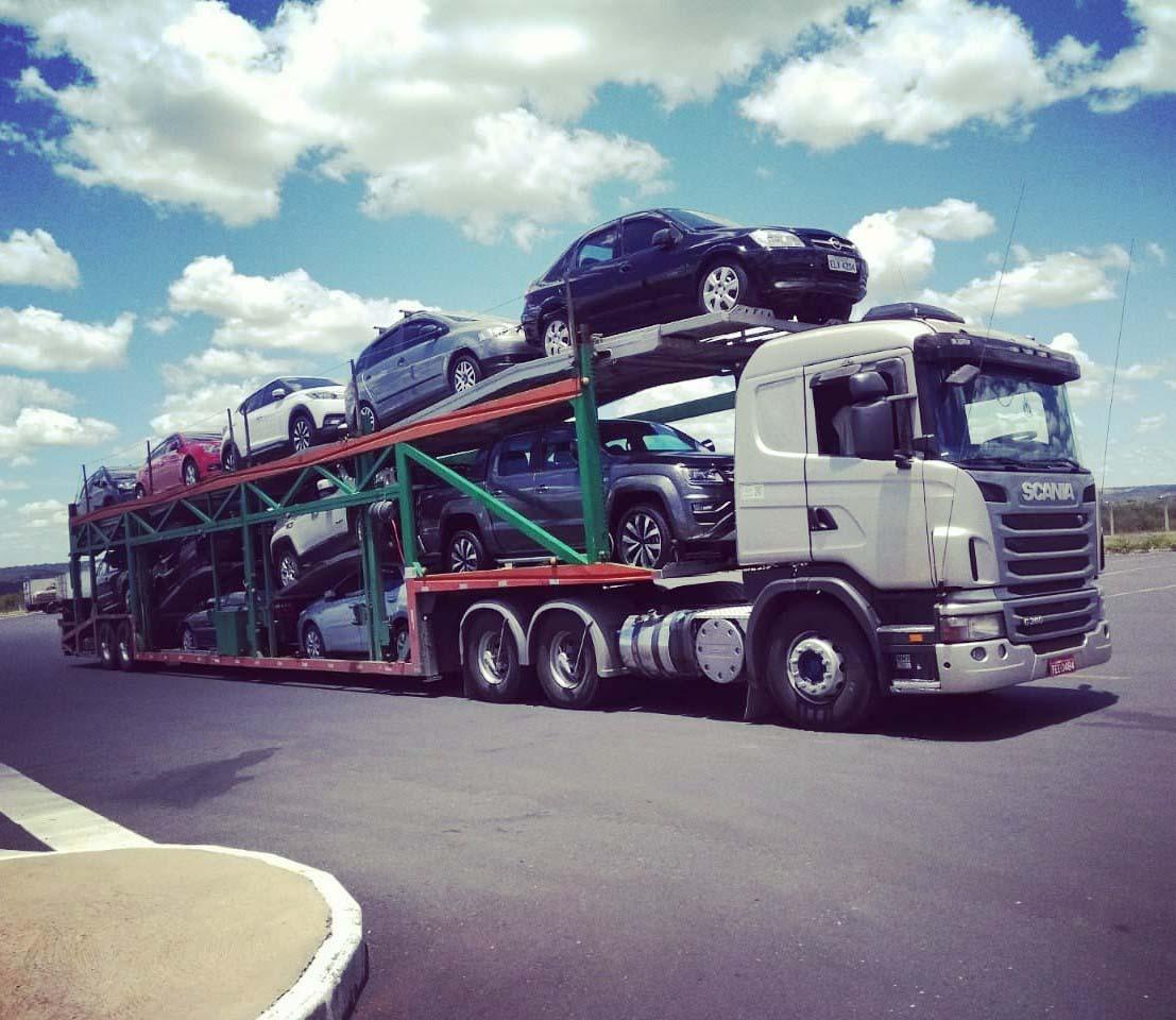 Cegonhas para transporte de veículos