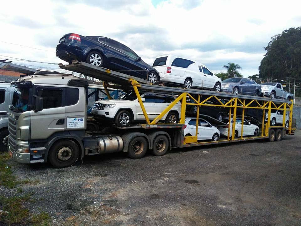 Transporte de automóveis cegonha